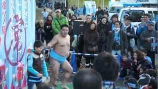 2012年11月24日 川崎 VS 清水 等々力陸上競技場 あかつのパフォーマンス...