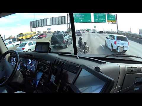 Trucker helps motorcyclist