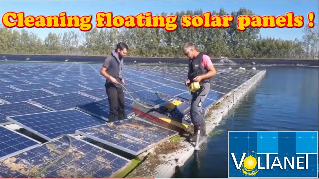 Nettoyage de panneaux solaires flottants avec le robot Solarcleano en Belgique - Voltanet