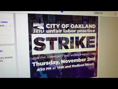 Oakland Public Works Union SEIU 1021 To Strike On Thursday Of Mayor's State Of City