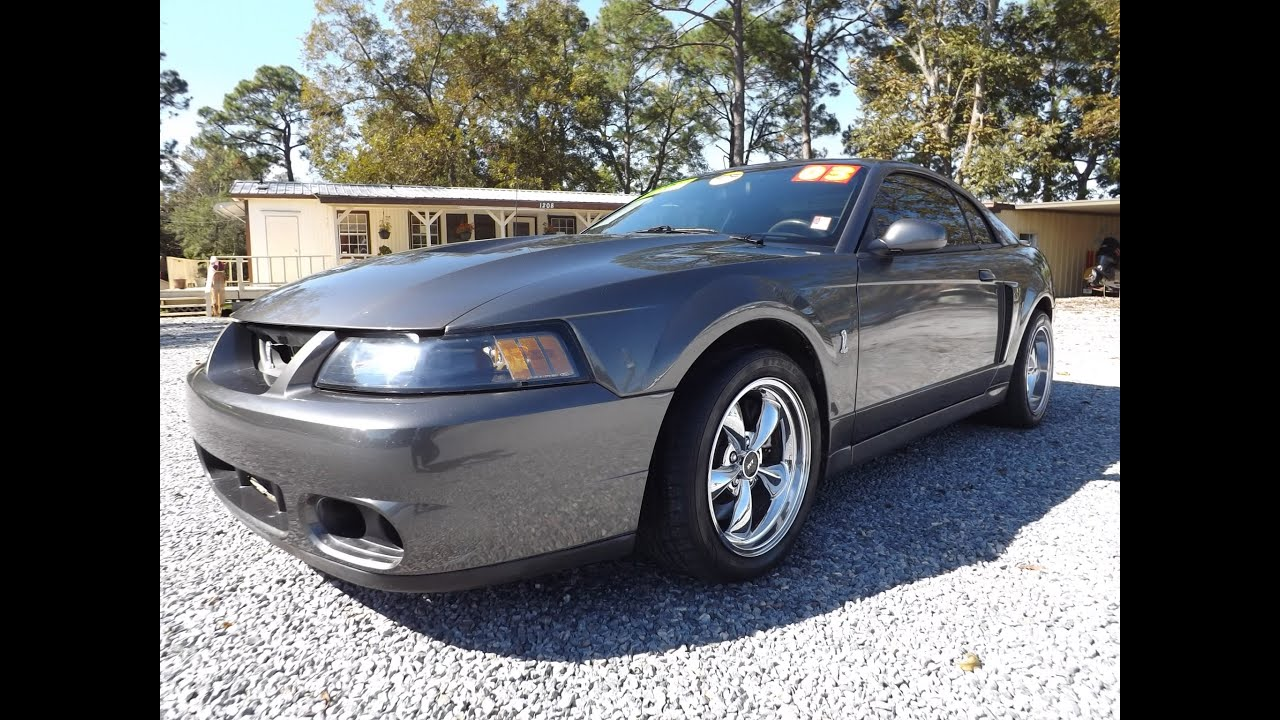 bad ass real 2003 ford mustang cobra for sale leisure used cars 850 265 9178 youtube. Black Bedroom Furniture Sets. Home Design Ideas