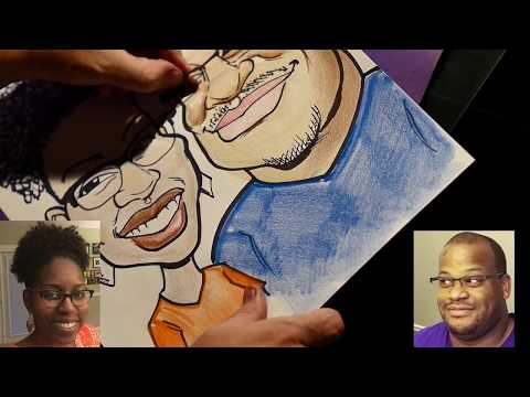 HOW TO DRAW CARICATURES - Color Stick Color Demo - Ethnic Skin Types