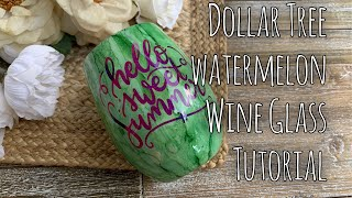 Watermelon Wine Glass Tutorial | Budget Friendly Dollar Tree Find screenshot 5