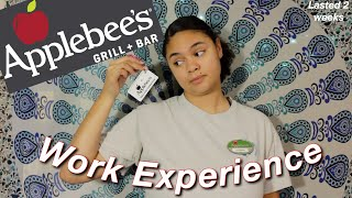 My Experience Working at Applebees