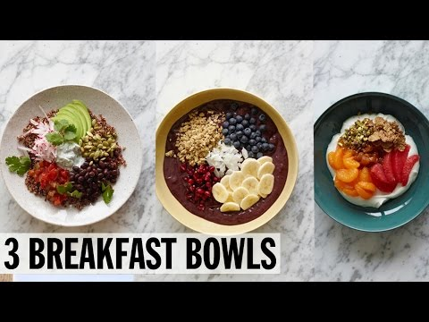 3 Healthy Breakfast Bowls | Food Network