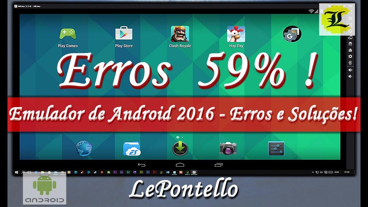 MEmu :: Erro 59% - Possível Solução :: Emulador de Android para Windows ::