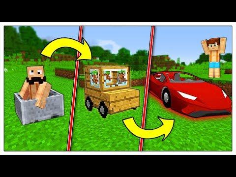 TRASFORMIAMO LA MIA AUTO POVERA IN SUPER MACCHINA! - Minecraft ITA