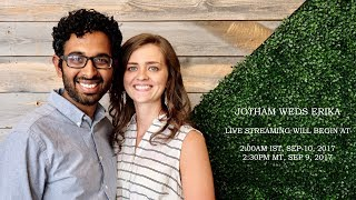 Jotham Weds Erika : Live Stream from Fort Douglas Salt Lake City : 9 Sept 2017