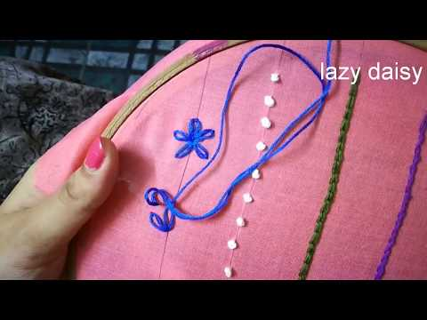 simple hand embroidery stitches for beginners