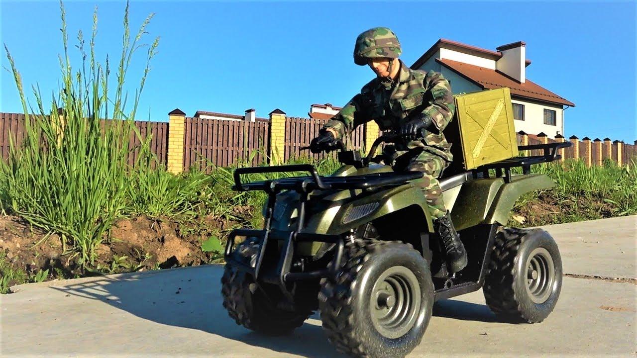 Военный набор солдат на квадроцикле - Игрушки для мальчиков - Видео для детей