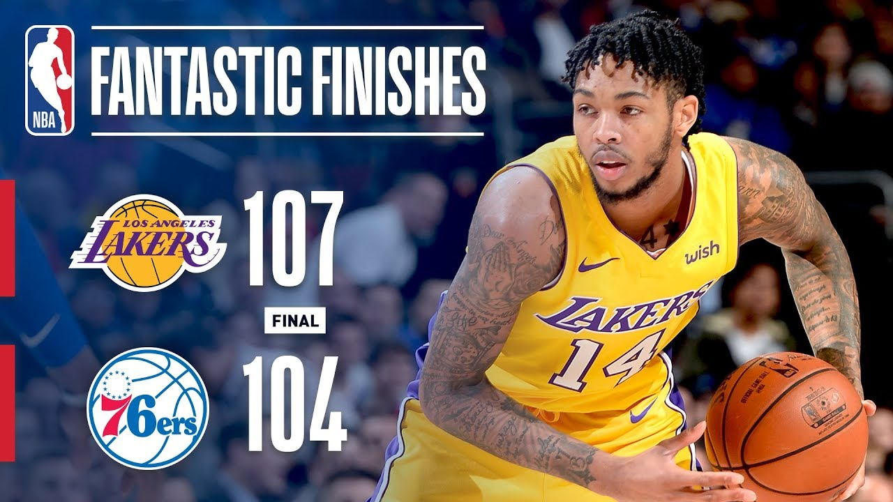 Lakers Seal The Game vs. 76ers With Brandon Ingram Game ...