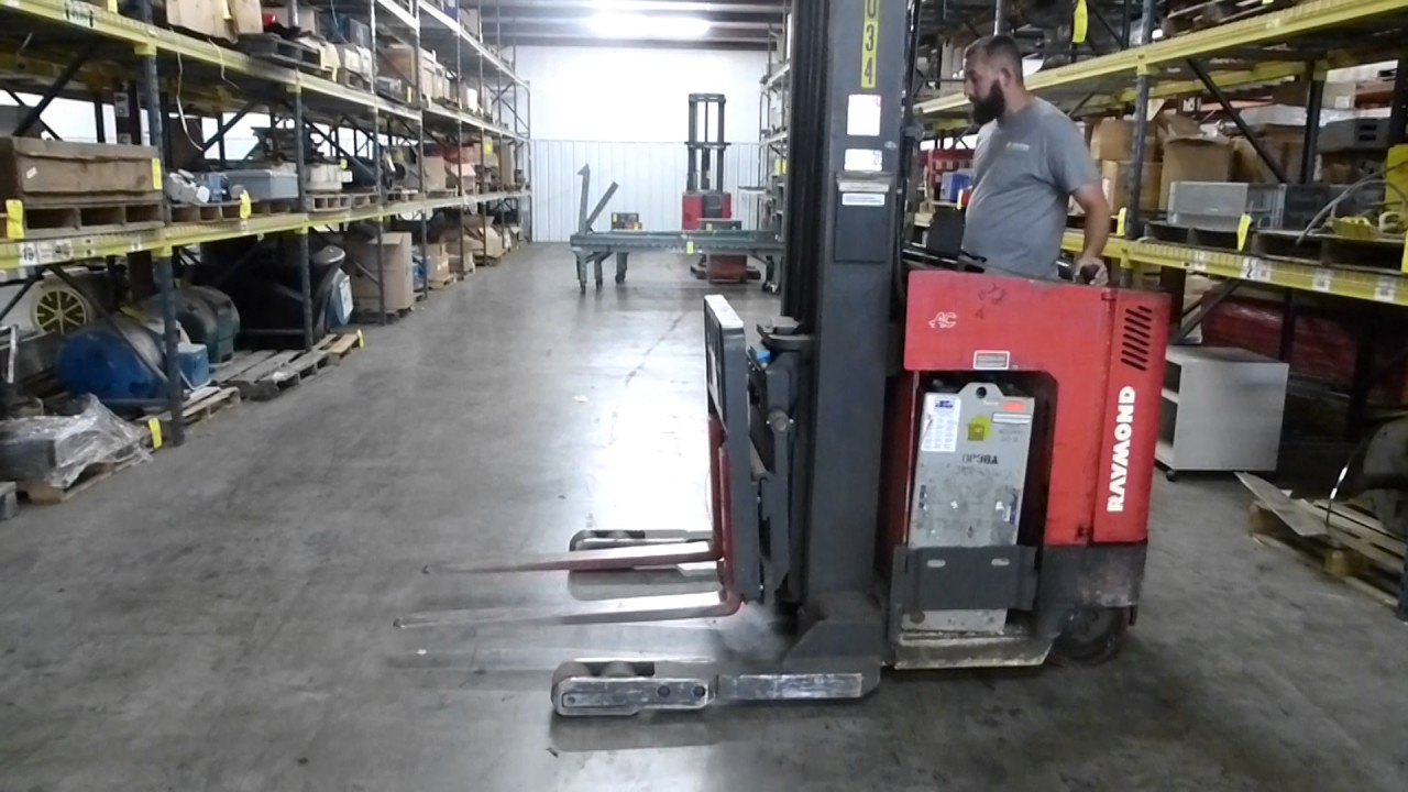 Raymond Stand Up Forklift Tag 92545 Youtube