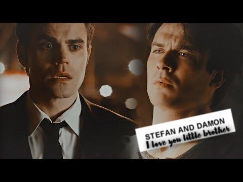 stefan & damon    I love you, little brother.