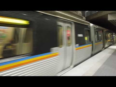 MARTA: Airport and North Springs-bound Red Line trains at Peachtree Center
