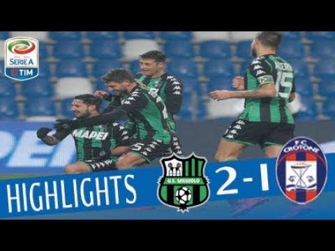 Sassuolo - Crotone 2-1 - Highlights - Giornata 16 - Serie A TIM 2017/18