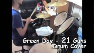 Green day - 21 Guns(Drum Cover _BY潘)