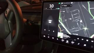 Model 3 First Ride Look at UI for Adjusting Mirrors, Steering Position, Rear Camera and More!