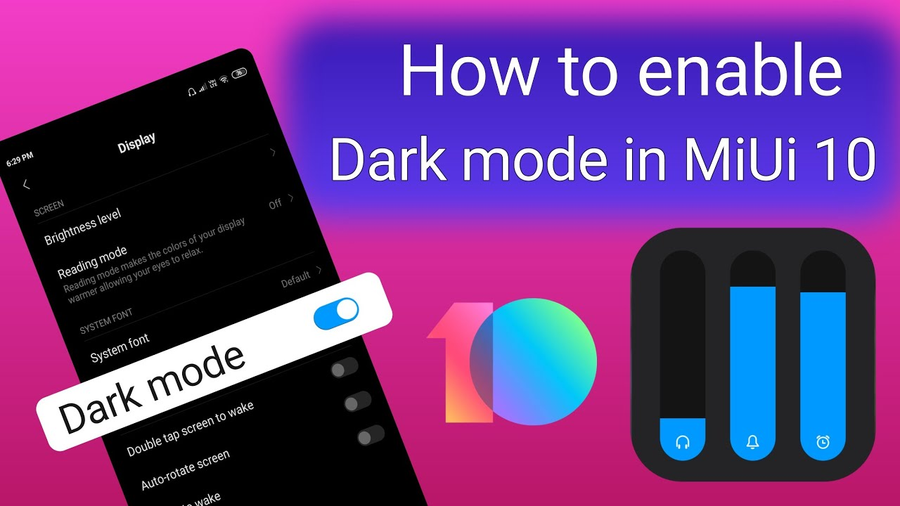 How to enable dark mode on MiUi 10 | dark mode in MiUi | best MiUi theme |  #NH_Soft