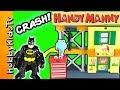 HANDY MANNY Workshop Fun Build! Batman, TMNT Fix Surprise Toys HobbyKidsTV