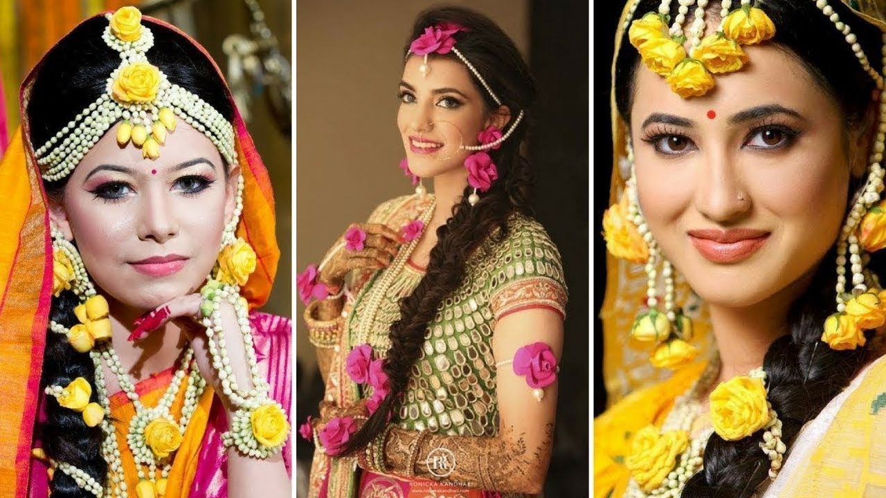 2ccf6577e4 Beautiful Flower Jewellery Ideas For Haldi And Mehend|| Flower Jewellery  For Wedding Season