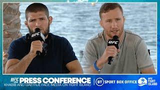 Full UFC 254 press conference: Khabib v Gaethje