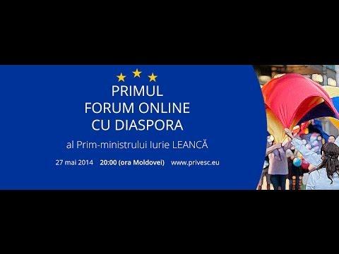 Forum Online cu Diaspora - intrebari video - Novosibirsk / Rusia