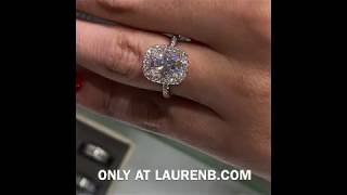 2.70 ct Radiant Cut Moissanite Soft Edge Halo