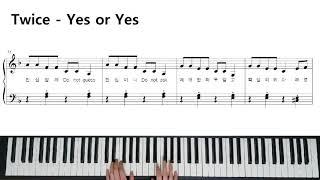 Twice(트와이스) - YES or YES 쉬운 피아…