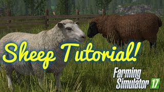 Farming Simulator 17 (HD)-- Sheep Tutorial: How To Buy, Feed, And Take Care Of Sheep/Wool