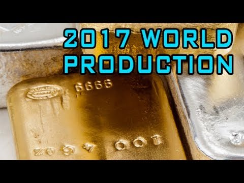 Silver & Gold Production In 2017 & Other Data