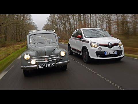 2015 Héritage Renault : la 4 CV (1946) face à la Twingo (2014) - AutoMoto