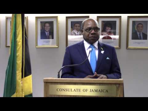 CULTURAL TRAVELER AT JAMAICAN CONSULATE PRESS CONFERENCE