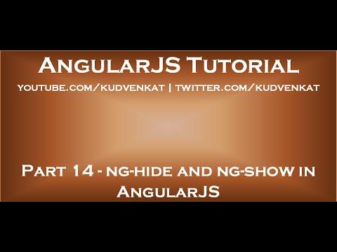 ng hide and ng show in AngularJS