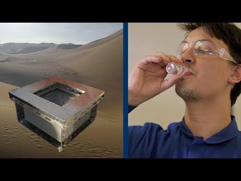 Even in the desert, an innovative device pulls fresh water out of thin air