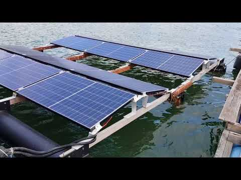 REC Solar - Off Grid Floating PV System in the SEA next to Pula Ubin