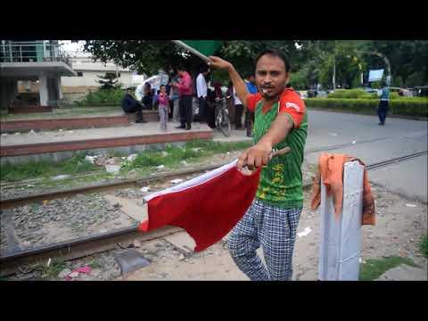 Mail train at  rajshahi railgate  bangladesh railway 