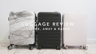 Luggage Review: Calpak, Away & Raden | laurenloraa
