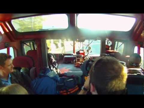 Fire truck ride along Raw video
