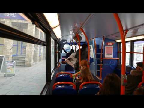 Inside A Cambridge Citi Route 1 Bus In Central Cambridge 2 February 2017