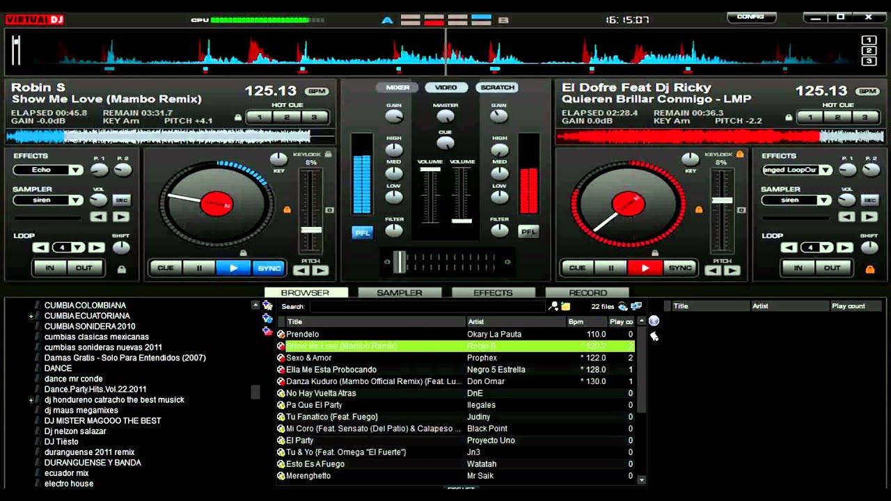 Virtual dj 1st version...