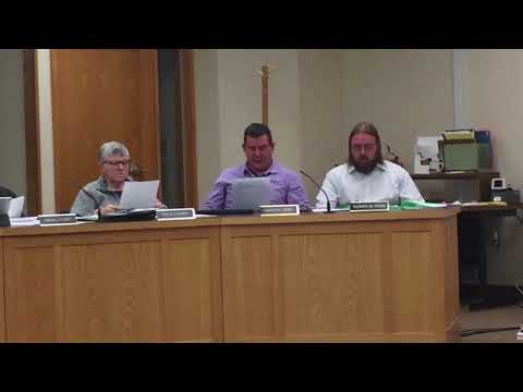 Easthampton City Councilor Owen Zaret reads declaration in support of new school construction