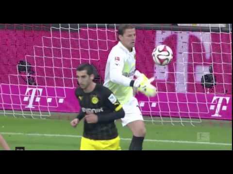 Mkhitaryan knocked out by Weidenfeller ||2014||Dortmund vs FC Bayern.