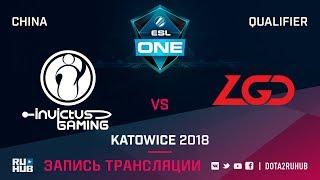 Invictus Gaming vs LGD, ESL One Katowice CN, game 1 [Lex, 4ce]