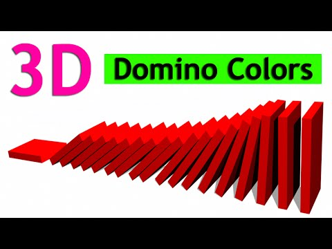 Colors for Kids learn With 3D Dominoes Falling,Colors for Children Funny Domino Colors
