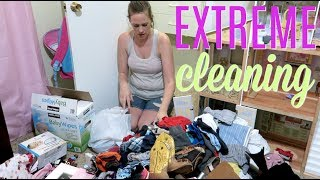 EXTREME DECLUTTER AND ORGANIZE  // DAUGHTERS ROOM