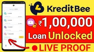 KreditBee Unlocked ₹1 lakh loan amount | live Proof | instantly loan apply | hindi
