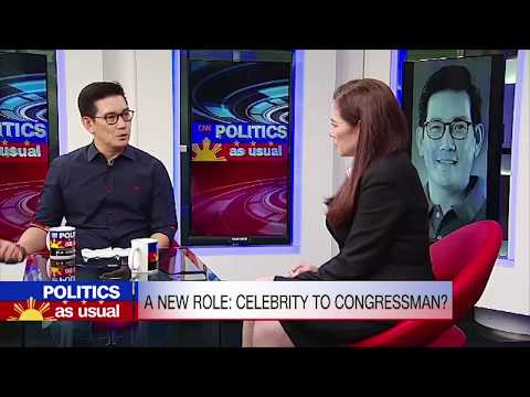 Politic as usual: A new role: Celebrity to Congressman?