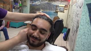 ASMR TURKISH BARBER MASSAGE💈NECK and EAR CRACK=olive oil,ear,face,arm,head,back,roller,wire massage