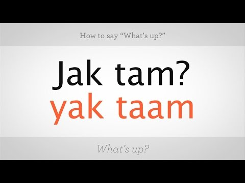 """How to Say """"What's Up"""" in Polish 