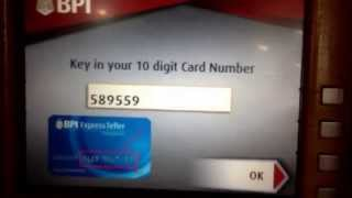How to deposit cash in real-time, without ATM card, without envelope via BPI ATM